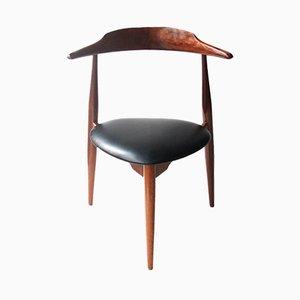 Model Heart FH-4103 Chairs by Hans J. Wegner for Fritz Hansen, 1950s, Set of 4