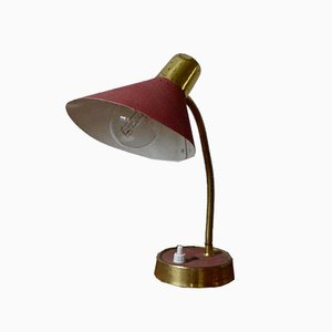 Lampe in Rot & Gold, 1950er