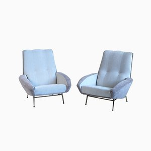 Large Armchairs by Guy Besnard, 1960s, Set of 2