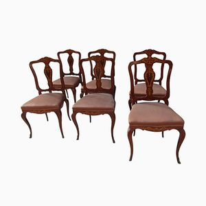 French Dining Chairs, 1950s, Set of 6