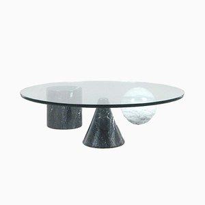 Runder Metafora Couchtisch aus Marmor & Glas von Massimo & Lella Vignelli, 1980er