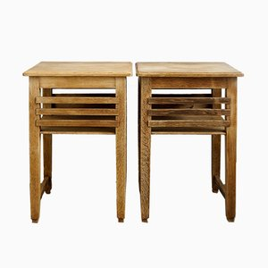 Art Deco Side Tables, 1920s, Set of 2