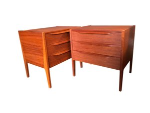 Model 34 Nightstands by Aksel Kjersgaard for Odder Møbler, 1960s