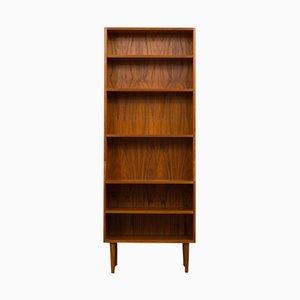 Hohes dänisches Bücherregal aus Teak, 1970er