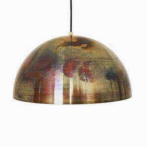 Grande Lampe à Suspension en Cuivre de Beisl, 1960s