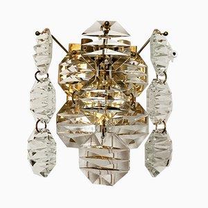 Wandlampe aus Kristallglas von Kinkeldey, 1960er