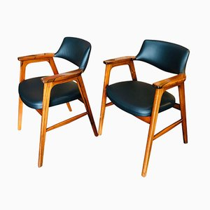Rosewood Chairs by Erik Kirkegaard for Høng Stolefabrik, 1950s, Set of 2