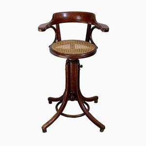 Chaise Haute DEnfant En Bois Courb Hauteur Ajustable De Fischel 1910s