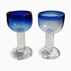 Footed Glasses by Viivi-Ann Keerdo for Koppel-Keerdo Glass Studio, 1999, Set of 2