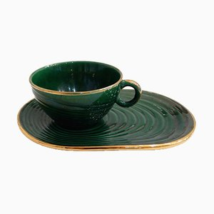 Coffee Cup & Saucer from Saint-Clément, 1930s