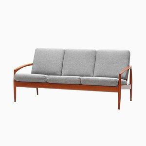 Dänisches Sofa aus Teak von Kai Kristiansen für Magnus Olesen, 1950er