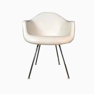 Sedia DAX in fibra di vetro e skai di Charles & Ray Eames per Herman Miller, anni '50