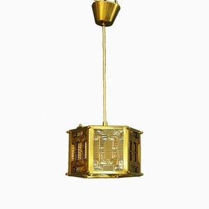 Lámpara colgante de vidrio de Carl Fagerlund, años 60
