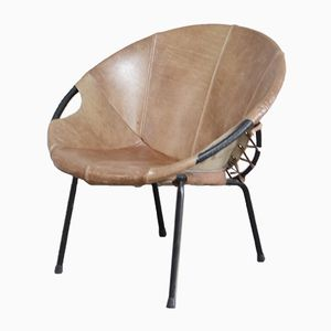 Vintage Balloon Coctail Chair by Hans Olsen for Lea