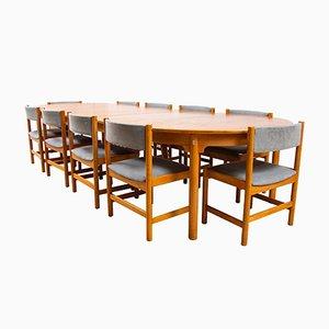 Tavolo da pranzo con sedie di Børge Mogensen per Karl Andersson & Söner, anni '60
