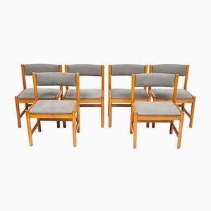 Sedie da pranzo Mid-Century in quercia di Borge Mogensen per Karl Andersson & Son, set di 6