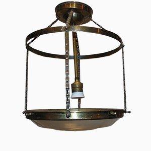 Art Deco Brass Pendant