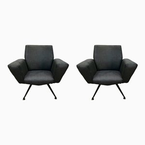 Model 548 Lounge Chairs from Lenzi, 1960s, Set of 2