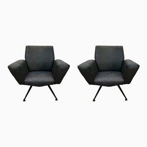 Modell 548 Sessel von Lenzi, 1960er, 2er Set