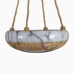 French Alabaster Pendant, 1920s