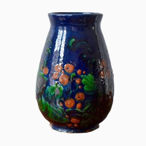 Antique Poppy Vase by Jean Garillon for Elchinger