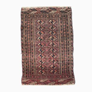 Antique Afghan Boukhara Hand-Knotted Rug