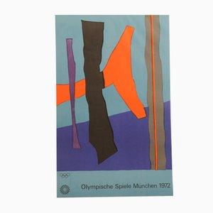 Munich Olympics Poster by Eduardo Chillida, 1972