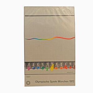 Poster delle Olimpiadi di Monaco di Eduardo Chillida, 1972