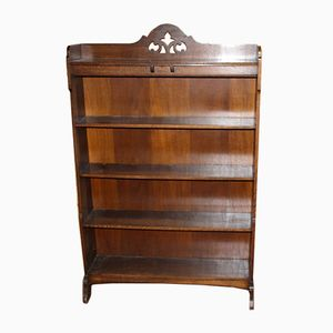 Vintage Oak Open Bookcase, 1920s