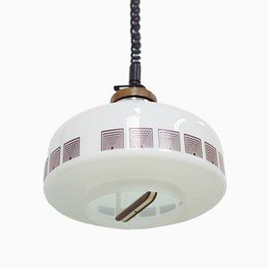 Lámpara colgante de opalina, años 70