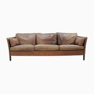 Danish Leather Sofa by Georg Thams, 1960s