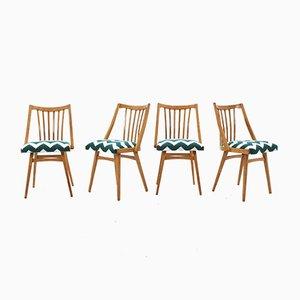 Esszimmerstühle aus Eiche, 1960er, 4er Set