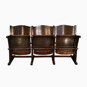 3-Sitzer Vintage Kinobank, 1950er