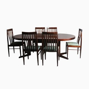 Mid-Century Danish Dining Table and 6 Chairs by H.W. Klein for Bramin