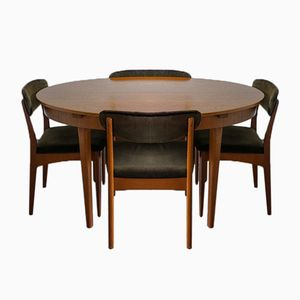Vintage Teak Oval Dining Table & 7 Dining Chairs from Greaves & Thomas, 1970s