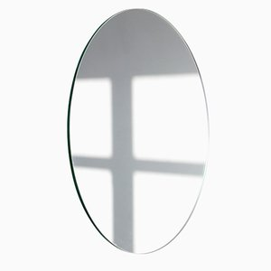 Extra Large Silver Orbis Round Frameless Mirror by Alguacil & Perkoff