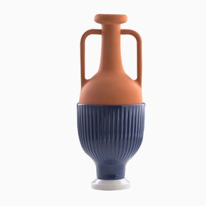#01 Medium HYBRID Vase in Cobalt-Grey by Tal Batit