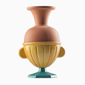 #05 Mini HYBRID Vase in Turquoise & Mustard by Tal Batit