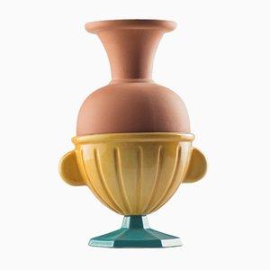 Vaso piccolo #05 HYBRID turchese e color senape di Tal Batit