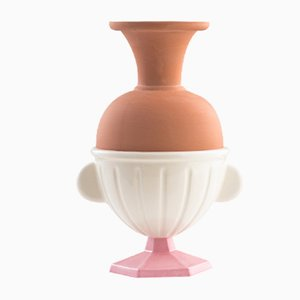 #05 Mini HYBRID Vase in White & Light Pink by Tal Batit