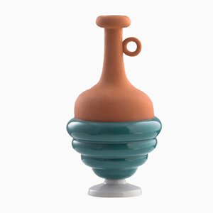 #06 Mini HYBRID Vase in Green & Grey by Tal Batit