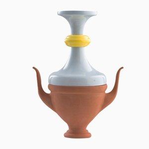 Vaso piccolo #07 HYBRID celeste e giallo di Tal Batit