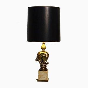 Lámpara de mesa vintage en forma de cabeza de caballo de Deknudt