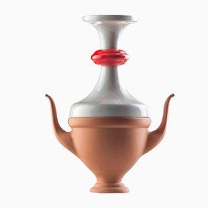 Jarrón #07 Mini HYBRID en gris y rojo de Tal Batit