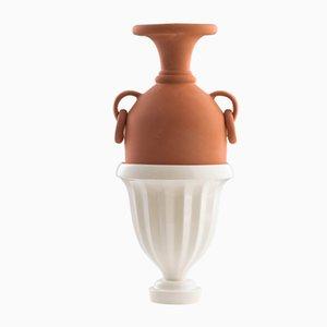 #04 Medium HYBRID Vase in White by Tal Batit