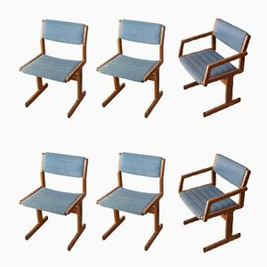 Domus Danica Dining Chairs from O.D Mobler, 1970s, Set of 6