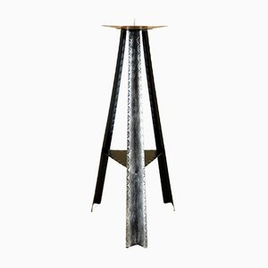 Large Metal and Copper Candleholder, 1950s