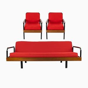 Französisches Sofa und 2 Sessel, 1960er
