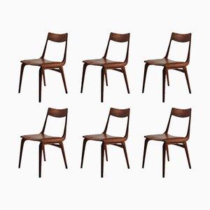 Boomerang Chairs aus Teak von Alfred Christensen für Slagelse, 1950er, 6er Set