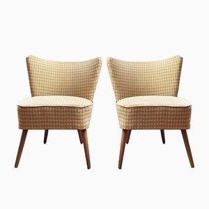 Fauteuils Cocktail Jaunes, 1950s, Set de 2